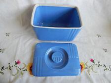 "HALL VINTAGE POTTERY WESTINGHOUSE REFRIGERATOR  DISH (BLUE) 4 1/4"" X  6"""