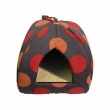 Rosewood 40 Winks Spice Dotty Polka Dot Pyramid Igloo Cat Bed 16'' (34249)