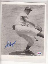 Signed 8 X 10 Dodgers Sandy Koufax  PSA DNA