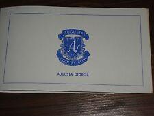 Augusta Country Club  Scorecard