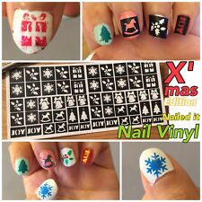 Christmas snowflake Nail Art Stencils Vinyl Decal Stickers Manicure French Nail