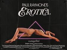 PAUL RAYMOND'S EROTICA British Quad movie poster 30x40 BRIGITTE LAHAIE 1981