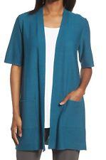 Eileen Fisher Women's Nile Simple Sleek Tencel Merino Knit Cardigan Large