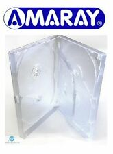 25 x 5 Way Clear DVD Multibox 15mm [5 Discs] Empty New Replacement Amaray Case
