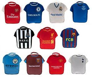 Football Shirt Lunch Bag Kit Box Boys Club Childs School Sports Team Lunchbox