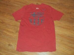 The NIKE Tee Athletic Cut Football Club Barcelona FCB T Shirt Sz Large L Cotton