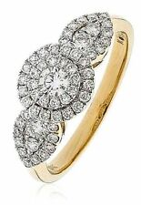 Unbranded Engagement Not Enhanced Yellow Gold Fine Rings