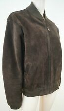 POLO RALPH LAUREN Menswear Chocolate Brown Leather Suede Bomber Jacket Sz:M