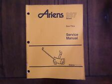 Ariens 937 Series Sno Thro Service Manual 1991