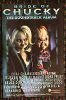 BRIDE OF CHUCKY soundtrack 11x17 promo poster Child's Play SLAYER Motorhead 1998