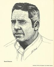Print: DAVID PEARSON Portrait. 1976 Goodyear Tire. NASCAR Auto Racing. Photo.