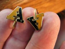 """Awesome High School """"A"""" screwback Vintage Earrings A   HS  (19F5)"""