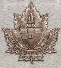 Canadian Army Badge: Bishop's College Cotc - brown, Scully
