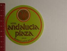 Aufkleber/Sticker: Hotel Andalucia Plaza Spain (201116118)