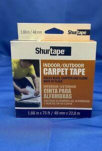 Shurtape 1.88 in W x 75 ft L Carpet Rug Tape Indoor/Outdoor Carpet Tape New