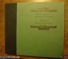 Pro Arte Quartet on 78 rpm Victor Album DM-259 Franck Quartet in D Major