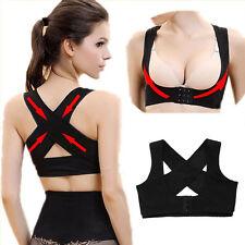 New Women Shoulder Back Posture Corrector Chest Brace Support Belt Vest Black BE