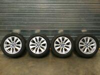 4x BMW E81 E82 E87 E88 Alloy wheels and winter Tyres 36110433287