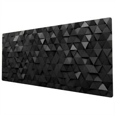 More details for 90x40cm extra large xxl mouse mat pad full desk pc black grey funky uk