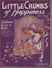 1920 Brennan and Ball Sheet Music (Little Crumbs of Happiness)