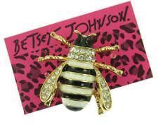 Lovely Enamel Crystal Bee Honeybee Charm Animal Brooch Pin Gift Betsey Johnson