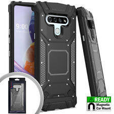 For LG STYLO 6 Metal Back Plate Aluminum Magnetic Support Hard Phone Case Cover