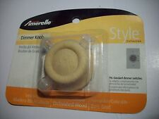 Lot of 3 Replacement Unfinished Solid Oak Dimmer Knob Model # 947Un By Amerelle