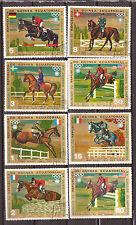 GUINEE 8 T oblitérés  concours  équestres des J.O 1972:dressage,saut, 82M 107