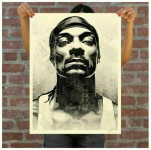 Snoop D-O Double G Dogg Obey Shepard Fairey S/N /550 Print IN HAND