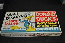 Donald Duck's Party Game Early Disney board Game 1938 Parker Brothers ITB WH