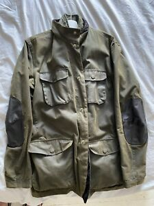 Mens Barbour Ogston olive green waxed jacket XL