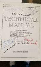 Star Trek Star Fleet Technical Manual 1st Printing 1975 Signed Gene Roddenberry