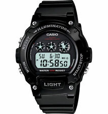 Casio Men's Black Resin Watch, Stopwatch, Countdown Timer, Alarm, W214HC-1AV