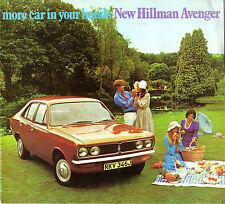 Hillman Avenger 1970-71 UK Market Sales Brochure 1250 1500 GL Super DL