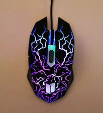USB Gaming Mouse Wired Mice 2400 DPI Multi Color Braided Wire