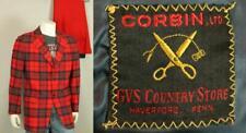 Men's CORBIN LTD Scottish Tartan Plaid Wool Blazer Jacket & Pants Trousers 42/34
