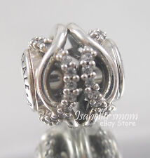 CARING ESSENCE Genuine PANDORA Silver/CLEAR CUBIC ZIRCONIA Charm/Bead NEW