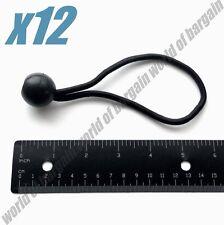"12 pc 6"" BALL BUNGEE Cord Tarp Elastic Tie Down Strap Bungi Canopy Rubber Straps"