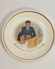 "President and Mrs. John F. Kennedy - Vintage 1960s Collectors 7"" Plate Gold Trim"