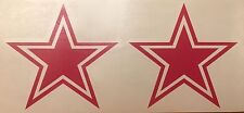 Dallas Cowboys Star Hot Pink  - 2 Pack Decal**FREE SHIPPING**