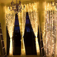 300 LED Curtain Lights Christmas Party String Fairy Wedding Birthday Outdoor