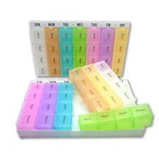 28 Slot Pill Case 7 Removable Days AM PM Medication Organiser Dispenser Box GYTH