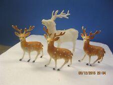Vintage Estate 4 Reindeer Christmas Scene Decoration