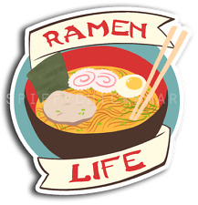 RAMEN LIFE Noodles Japanese Food Lover Sticker Decal Yeti Tumbler Sticker