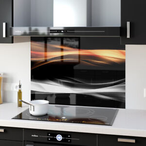 Splashback Kitchen Toughened Glass Fire & Smoke Abstract Art 86253625n 100x80cm