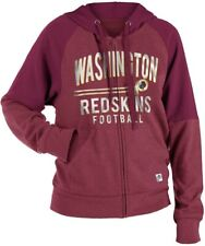 New Era Washington Redskins Women's Tri-Blend Fleece Zip Up Hooded Sweatshirt
