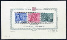 POLAND 1948 Presidents block MNH / **