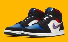 """Air Jordan 1 Mid SE """"Lakers"""" Black Purple White 852542-005 Basketball Shoes Mens"""