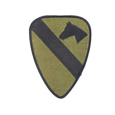 1st Air Cavalry Division Subdued Patch. Green and Black