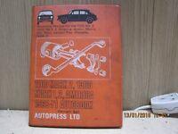 Workshop manual for Austin Morris MG Riley Wolseley 1968-1971